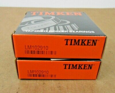 Lot Of 2 Nib Timken Lm102910 Tapered Roller Bearing Cup 2.8910 Od X 0.62 Width