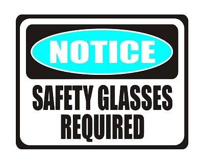 "WEAR SAFETY GLASSES ~ 2.3/"" X 2.0/"" Label Sticker CLARION SAFETY ~ FLYING DEBRIS"