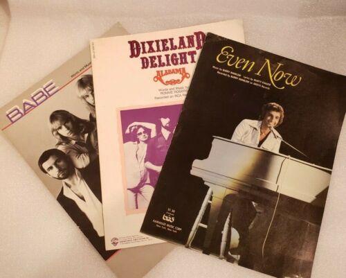 Vintage Sheet Music Manilow Styx Alabama LOT (3)