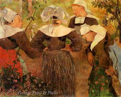 Four Breton Women by Paul Gauguin Art Country Dress Girls Talk 8x10 Print 0910
