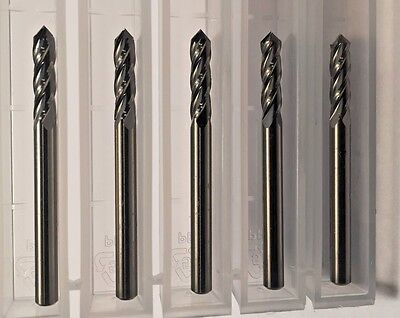 New 18 .1250 Carbide 4 Flute Drill And Mill 90 Degree Point 5-pack Usa Made