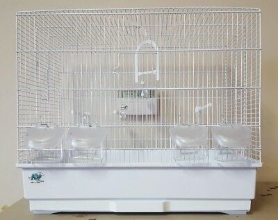 JAININE WHITE #10040010 BIRD CAGE FOR FINCHES, CANARIES, AND PARAKEETS