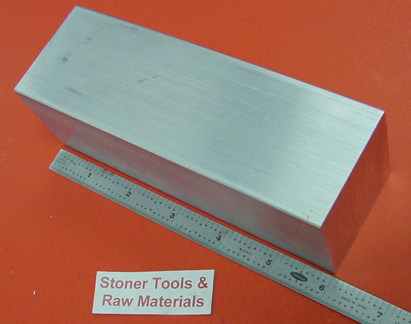 "2"" X 2"" 6061 SQUARE ALUMINUM SOLID FLAT BAR 6"" long T6511 New Mill Stock"