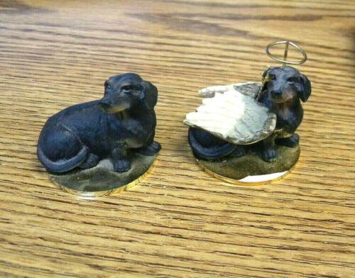 2 Dachshund DOG CONVERSATION CONCEPTS ~ TINY ONES ~ DGT19B and DTA-19B Angel
