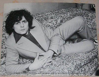 Marc Bolan T.Rex 10x8 PROMO Lithograph ~ Fan Club Posed