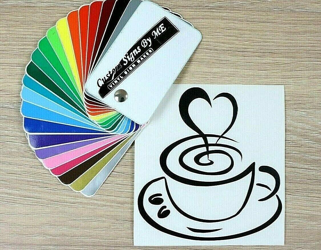 Coffee Cup Love Wall Sticker Kitchen Vinyl Decal Adhesive Door Cafe Decor Black Ebay