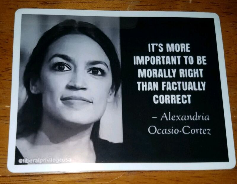 Alexandria Ocasio-Cortez funny sticker, Green New Deal Mastermind A.O.C. TRUMP!