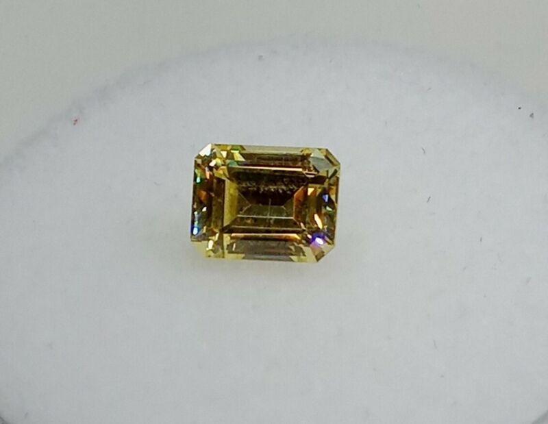 Fabulite strontium titanate Canary Antique/Vintage gemstone.new antiq stock fb87