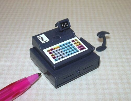 Miniature Plastic Modern Cash Register w/Hand Scanner: DOLLHOUSE 1:12 Scale