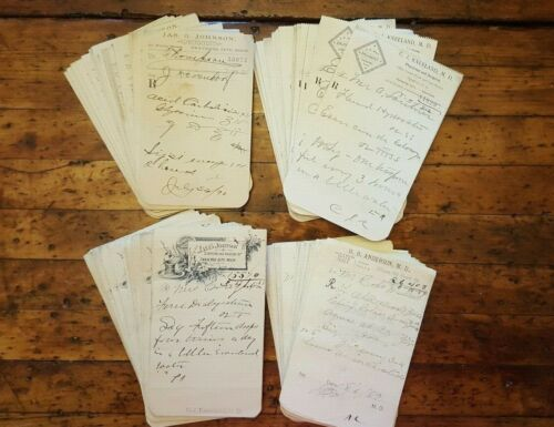 Lot of 200+ Antique Rx Doctor Prescriptions Druggist Forms C1887-1892 Obsolete