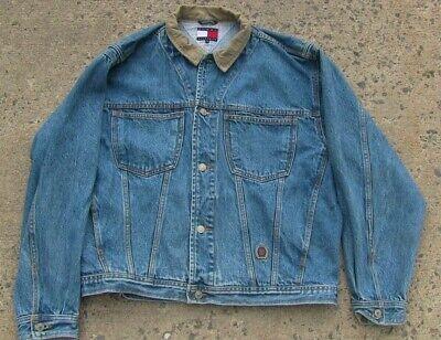 Size Large - Vintage Tommy Hilfiger Jean Jacket Denim Trucker Button Up