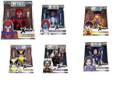 """Jada Metals Diecast 4"""" Figures Marvel X-Men Bundle Set New In Stock!"""