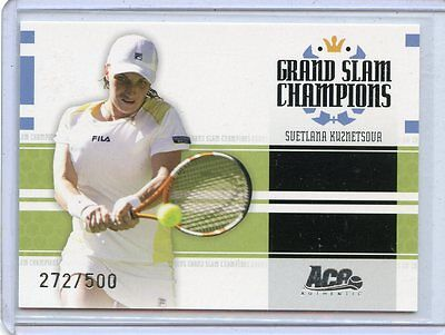 2005 Ace Authentic Grand Slam Champions Svetlana Kuznetsova Gs 9   272 500