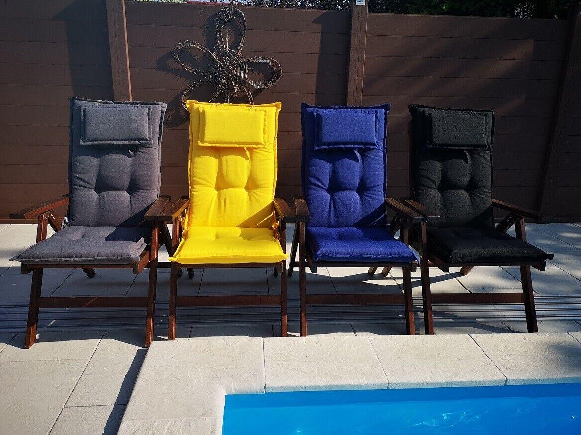 Luxus Auflagen SUNNY LUXURY Hochlehner Gartenstuhlauflagen Auflage Kissen Stuhl