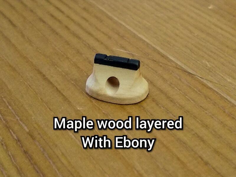 Custom Handmade Erhu Bridge Exotic Wood Layered Improve Tone Clarity Maple/Ebony