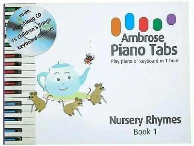 First Childrens Music Book. Nursery Songs Kids Beginners Music Learn Play Piano