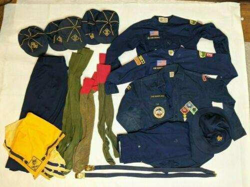 Vintage Cub Scouts Uniform Hat Pants Lot - PA Greensburg 80s girls skirt