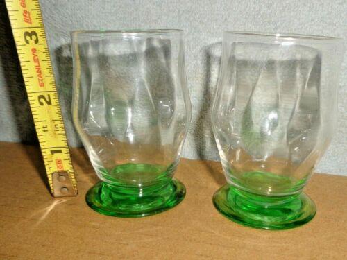 (2) NICE HEISEY GLASS MOONGLEAM DIAMOND OPTIC WHISKEY DECANTER SHOT GLASS LOT