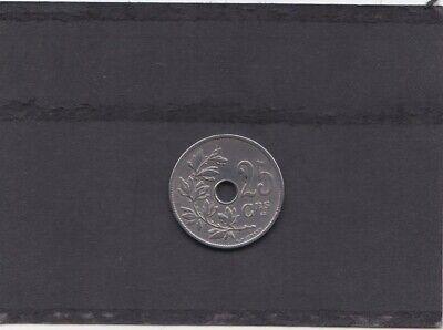 BELGIE/BELGIQUE LEOPOLD II 25 CENT 1909 FR