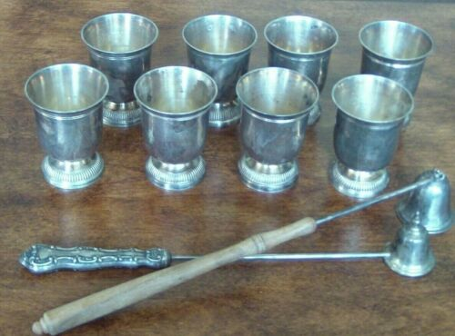 Sterling Egg Cups (8), Gorham and Towle Sterling Candle Snuffers, 550 Grams +/-