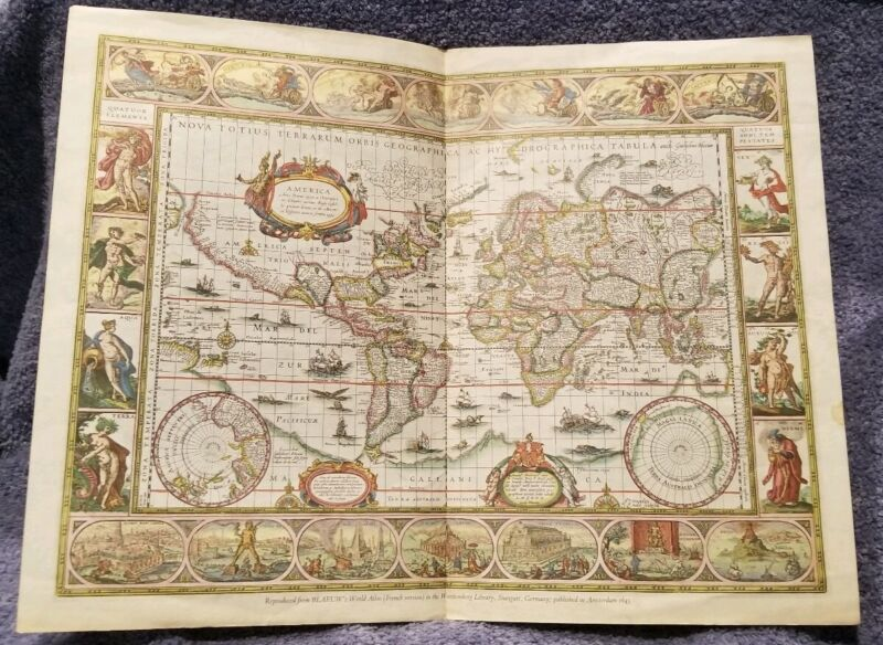 Antique Map World Atlas French Version Wurttenberg Published in Amsterdam RB43