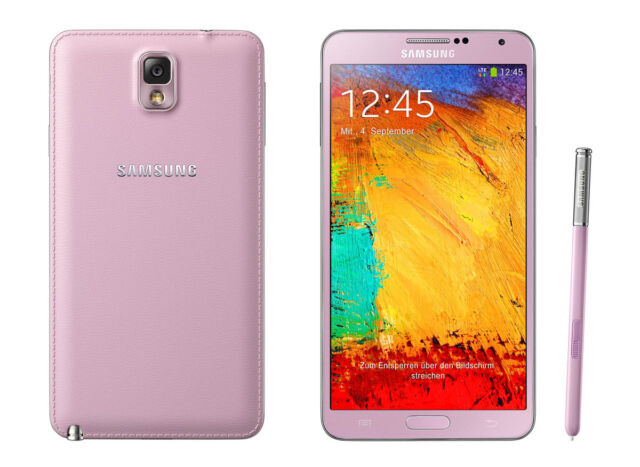 "Unlocked Pink 5.7"" Samsung Galaxy Note 3 4G LTE Android GSM Smartphone 32GB AUBG"