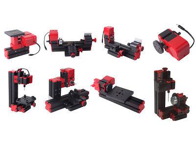 24w Mini Multipurpose Machine 8 In1 Kit Diy Wood Model Power Tools Lathe Milling