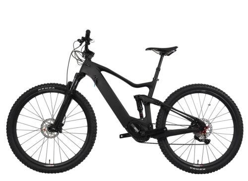 "29er Carbon Ebike Full Suspension Mountain Bike Bafang 500W Electric Bicycle 18"""