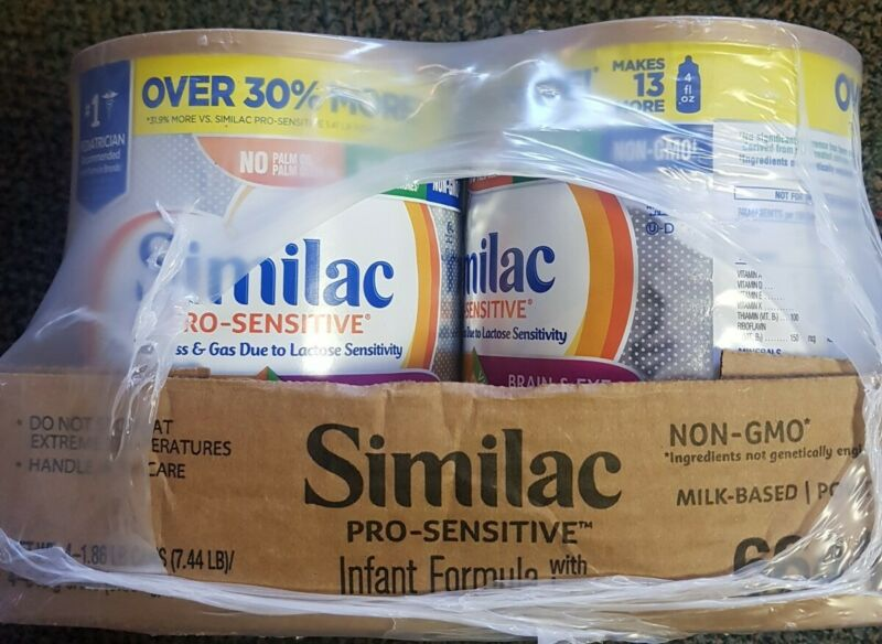 Similac Pro Sensitive Infant Baby Formula Powder 29.8oz 4 Cans New