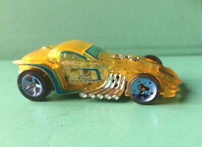 hot wheels 'burl-esque' Yellow X Racer Clear Body V10 Fantasy Hot Rod See Photos