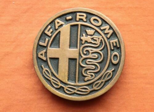 Vintage Rare UB Alfa Romeo Solid Bronze Belt Buckle