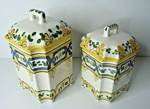 Casafina Two Canister Set - Rijos - Hand Painted in Portugal