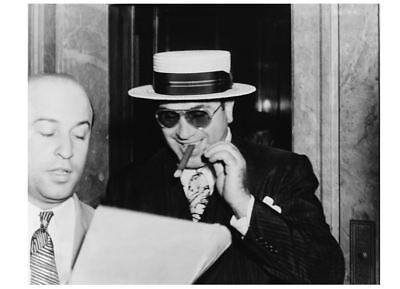 1941 Al Capone Cigar Smile PHOTO Great Depression Chicago Gangster, Miami