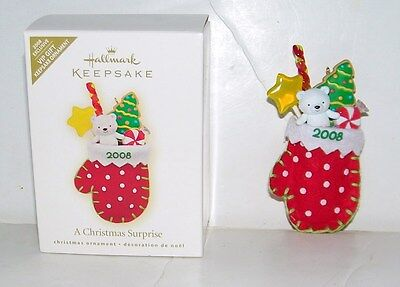 Hallmark Keepsake VIP 2008 A Christmas Surprise Christmas Ornament In Box