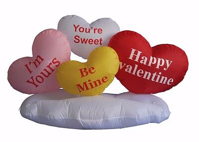 Valentine Day Air Blown Animated Inflatable Yard Lawn Decoration Hearts on Cloud](Valentine Inflatable)