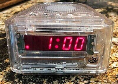 GPX Transparent Alarm Clock w/ AM / FM Radio  CR1807CLR