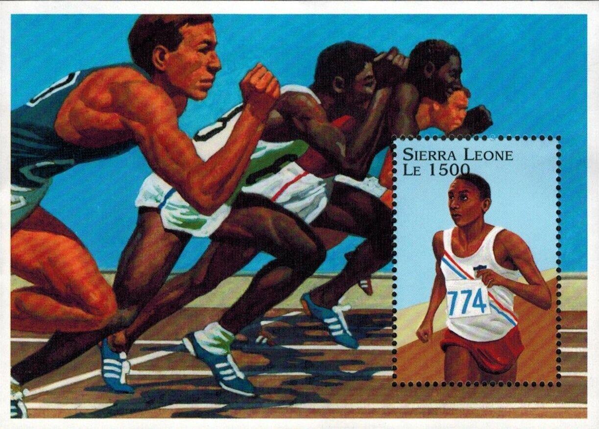 VINTAGE CLASSICS - Sierra Leone 1882 - Olympics 96 Track - Souvenir Sheet - MNH - $0.89