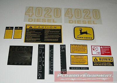 John Deere Tractor Hood Decal Set 4020 Dieseld-jd4020 Jd417s