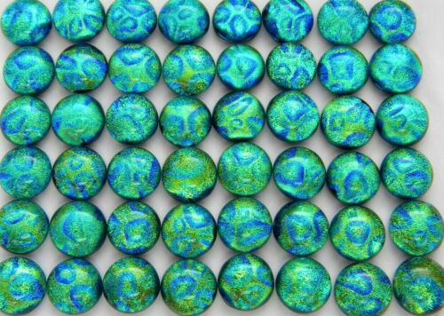 TINY Lot 48 pcs DICHROIC earrings FUSED GLASS (J8) mosaic cabochons handmade