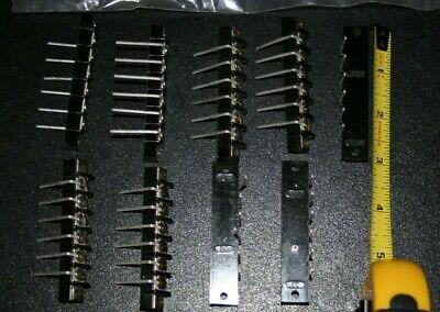 Lot Of 9 Etc Terminal Strip Blocks 6 Position Screw Type New