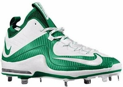 New Nike Air Max Mvp Elite Ii 2 Metal Sz 12 5 Green White Baseball Cleats Shoes