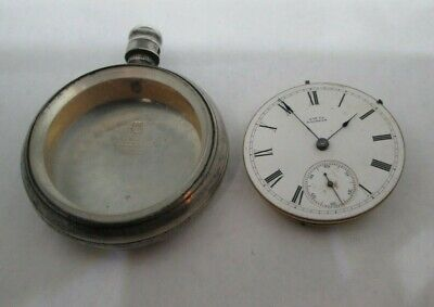 Antique 1873 Waltham Ellery Pocket Watch w/ Waltham Coin Silver Case (1879 Pat.)