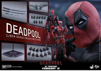 Hot Toys MMS347 Deadpool Movie 1/6 Scale Sideshow Collectibles Original Shipper