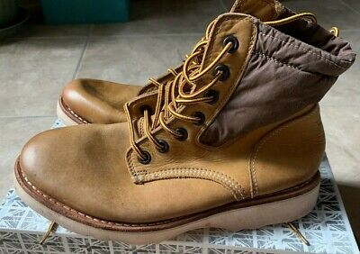 White Premiata Brown Lace Up Work Boots Men's Euro 42 US 8-8.5 NEW