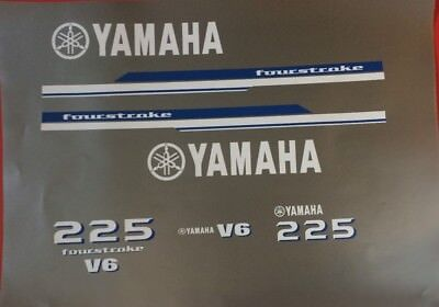 Yamaha V6 Outboard Engine Decal sticker Kit 225 hp  request  200-300 Free Ship for sale  Lawrence