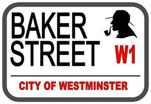 Sherlock Holmes Baker  Street Metal Sign