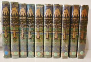 J-R-R-Tolkien-The-Hobbit-1st-Edition-to-10th-Impressions-w-original-jackets
