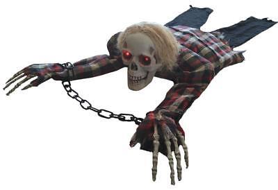 1.5m Lebensgröße Animierter Crawling Skelett Halloween Prop Spukhaus - Leben Größe Skelett Halloween