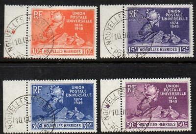 SoD New Hebrides (French) 1949 UPU Anniversary marginal set canc 1st day Superb