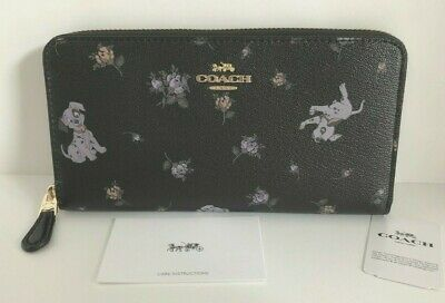 Coach (91743) Disney Dalmatian Pups Accordion Zip Wallet NWT$278
